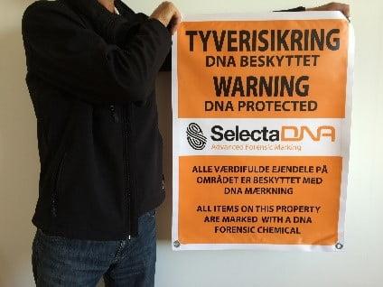 SelectaDNA PVC lærred til håndværkere og byggepladser - DNA mærkning - FindMyGPS