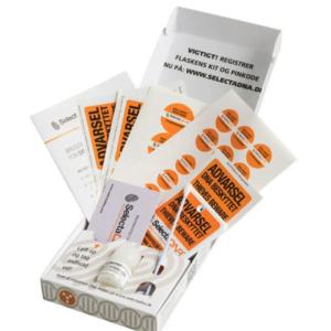 SelectaDNA STORT DNA-STARTKIT med 25 mærkninger (Xtra sikringsmærker i pakken) - 1 - FindMyGPS