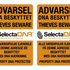 SelectaDNA Vindues Sikringsmærker - DNA mærkning - FindMyGPS