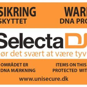 SelectaDNA banner til byggepladser - PVC - 300x150 cm - DNA mærkning - FindMyGPS