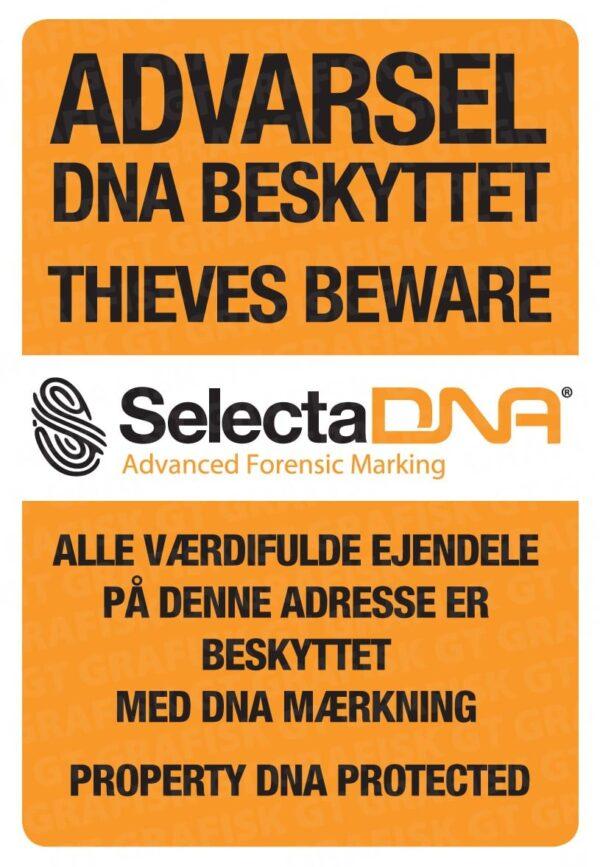 SelectaDNA sikringsmærker til dør, container og postkasse - DNA mærkning - FindMyGPS